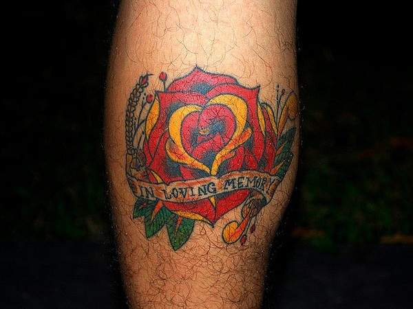 Memorial Rose Tattoo