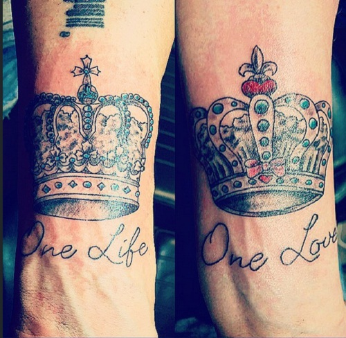 Love Tattoos For Couples Quotes Cool 52 Best Couples Tattoos Ideas And Images  Piercings Models