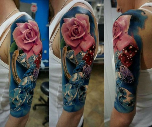 rose-and-diamond-tattoo