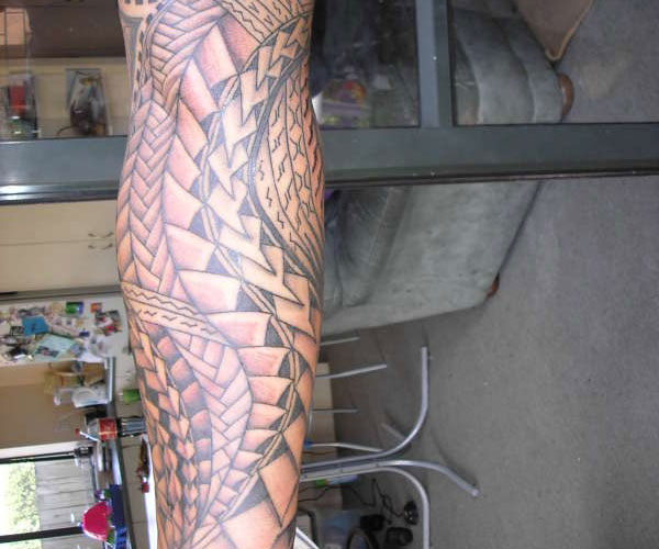 samoan colorful tattoo