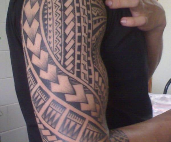 samoan half sleeve tattoo