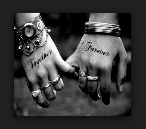 Together Forever Couples Tattoos