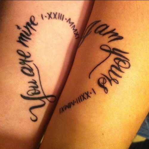 You are Mine Couples Tattoos Quotes
