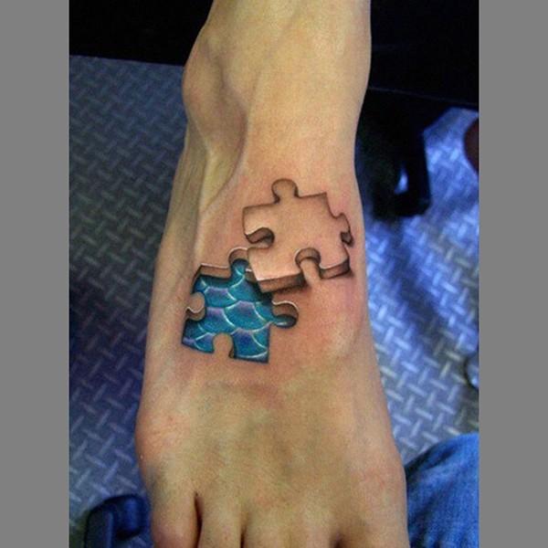 3D Puzzle Tattoos