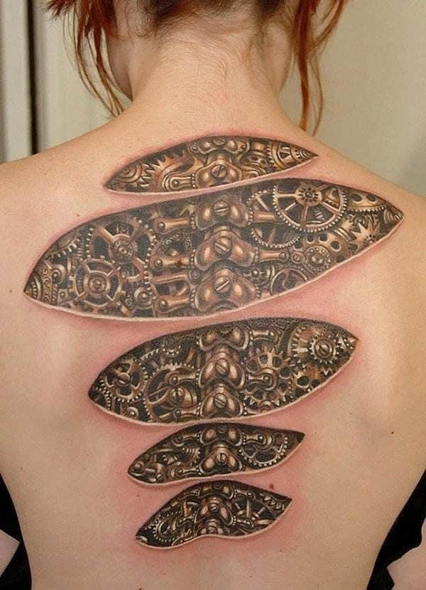 3D Spinal Tattoos