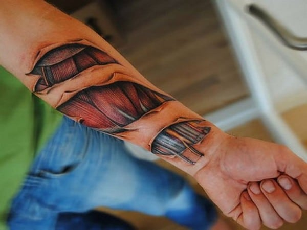 3D Tattoo On Forearm