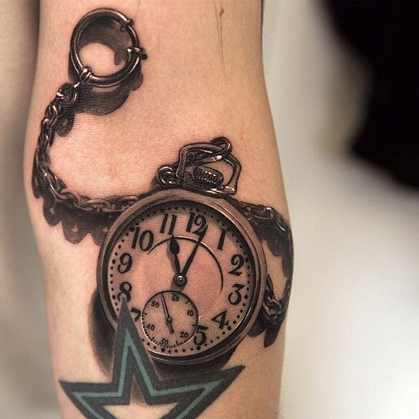 3D Watch Tattoo