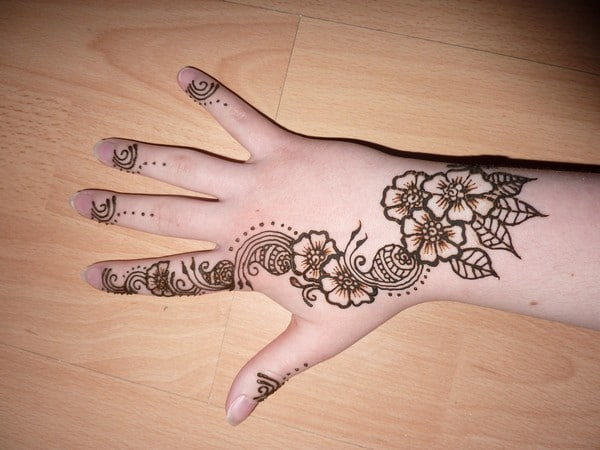 Awesome Henna Flowers Tattoo