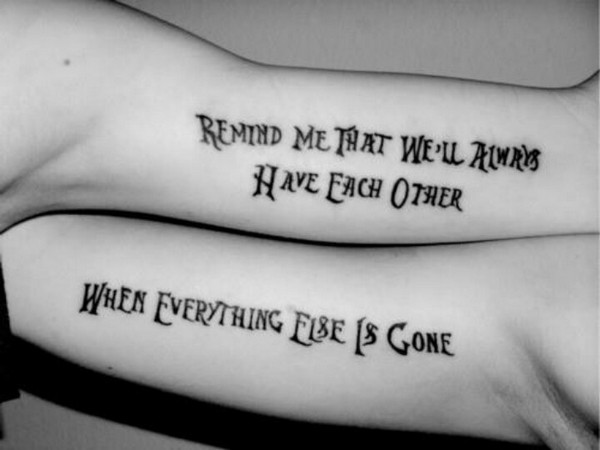Brother And Sister Matching Tattoos