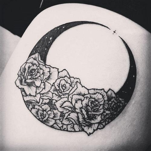 Flower Moon Tattoos