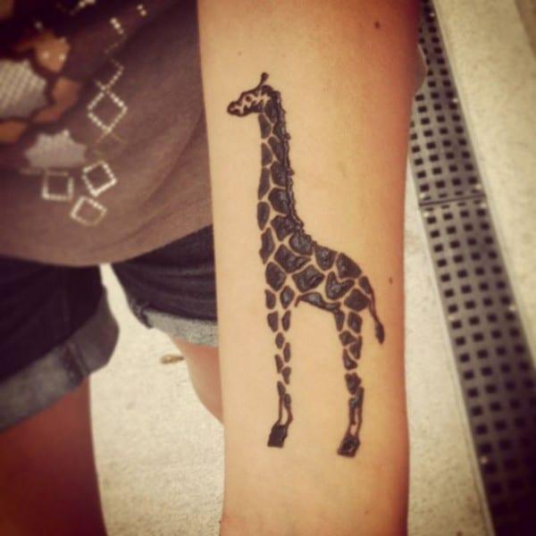Giraffe Henna Tattoo