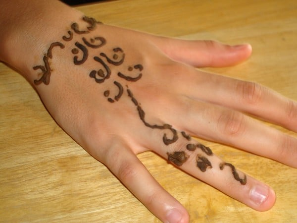 Henna Unique Tattoo On Hand