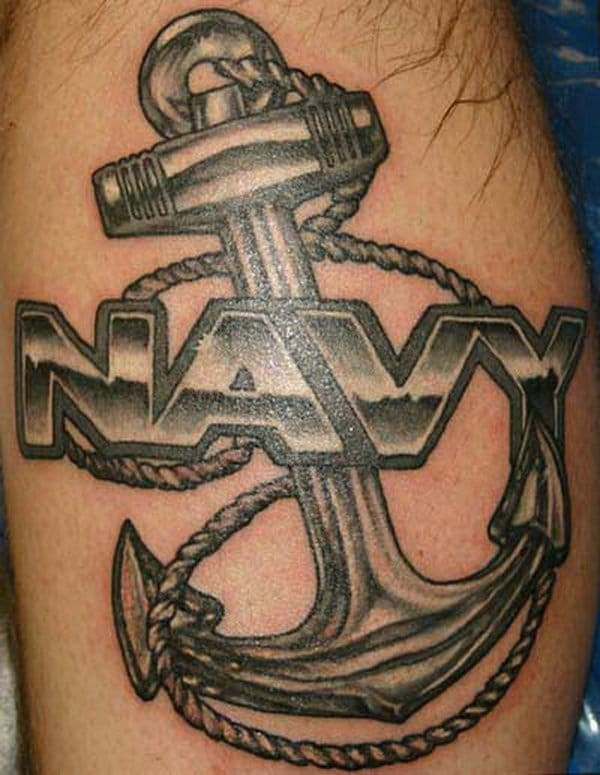 Navy Anchor Tattoo