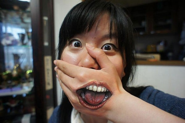 Realistic Mouth Tattoo