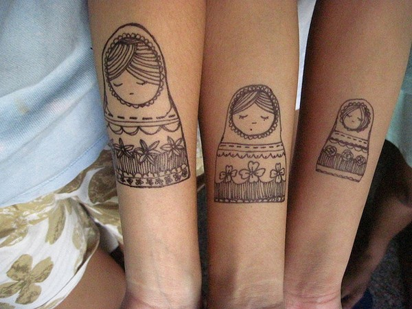 Sister Tattoos Ideas For Three