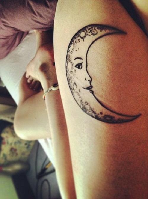 Smiling Moon Tattoos