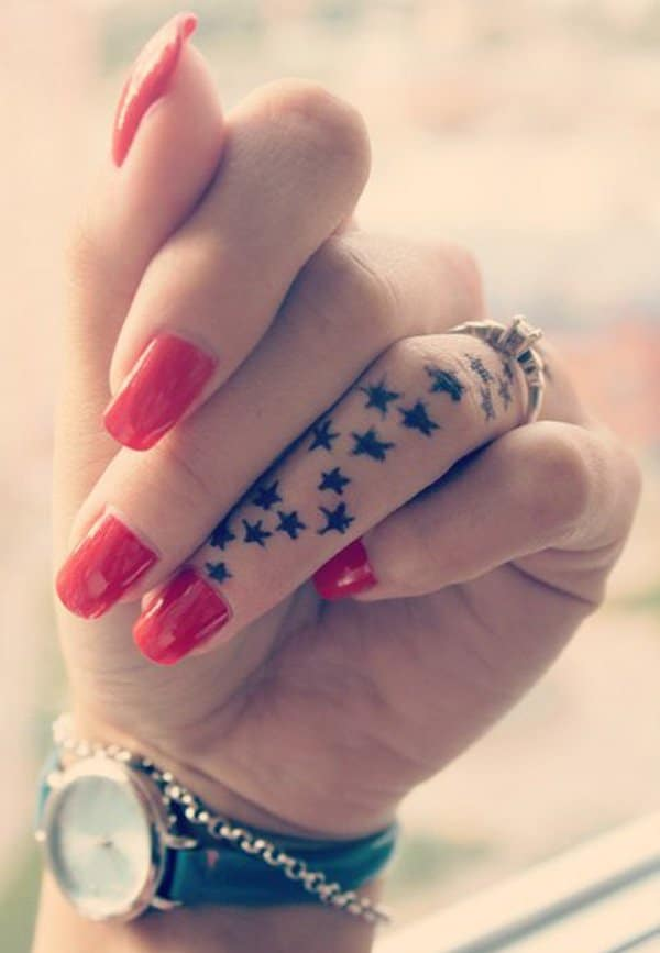 Star Finger Tattoo