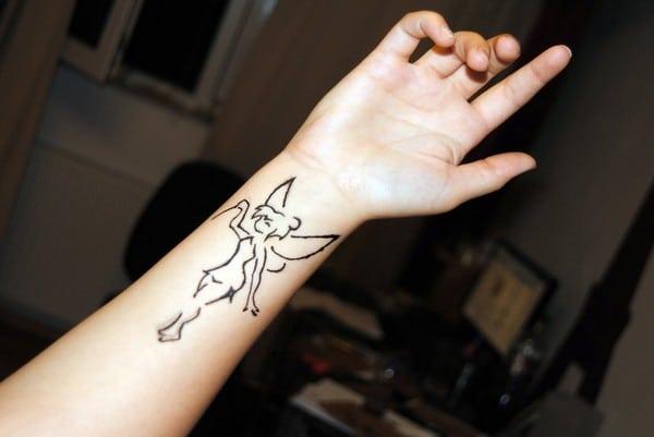 Tinkerbell Henna Tattoo