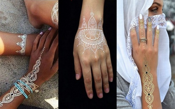 Trending White Henna Tattoos