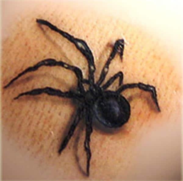 Black Widow Small Tattoo