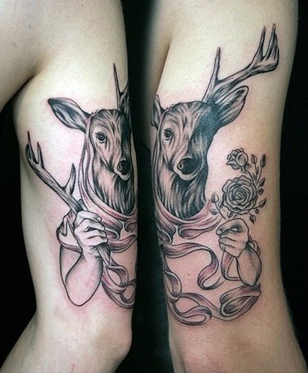 Deer Matching Tattoos