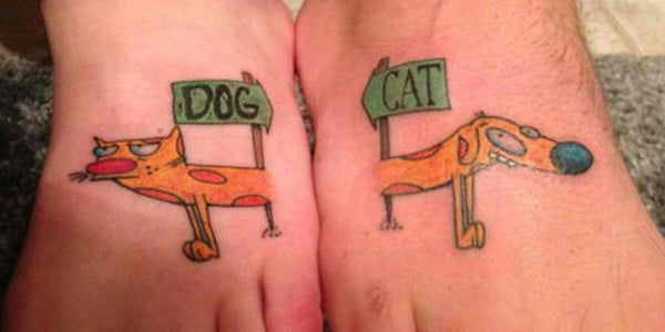 Dog And Cat Tattoo