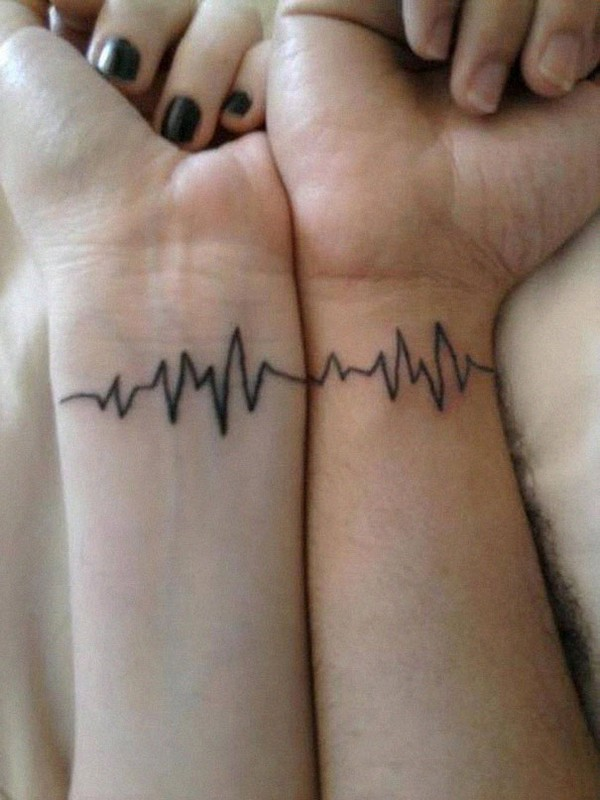 Heartbeat Matching Tattoo