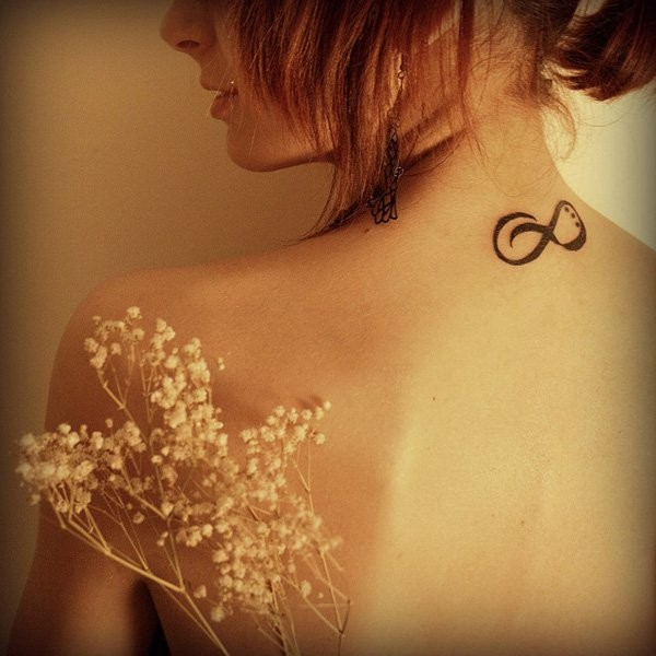 Infinity Small Tattoos On Neck