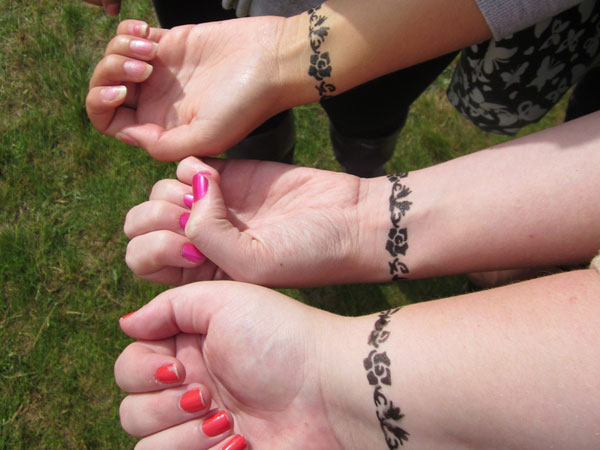 Matching Wrist Bracelet Tattoos