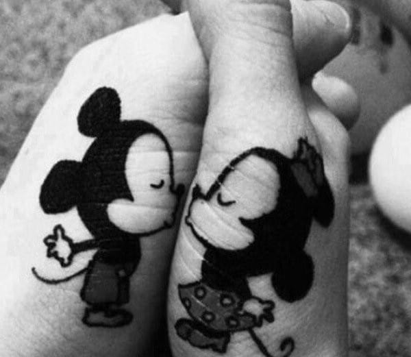 Mickey Minnie Matching Tattoos