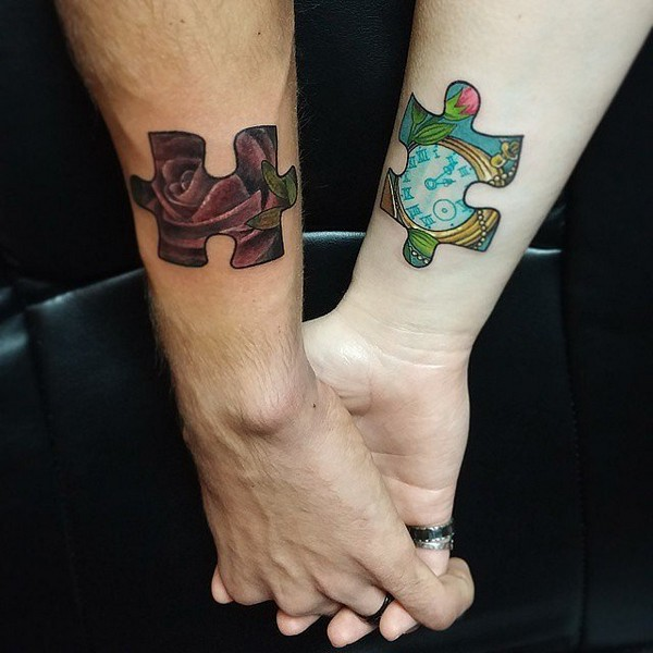 Puzzle Pieces Tattoo