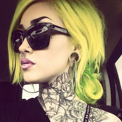 Alive Lamp Rose Neck Tattoos