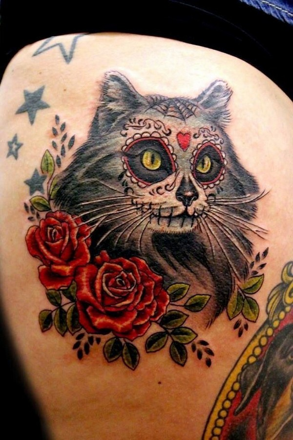 Amazing Sugar Skull Tattoos Images