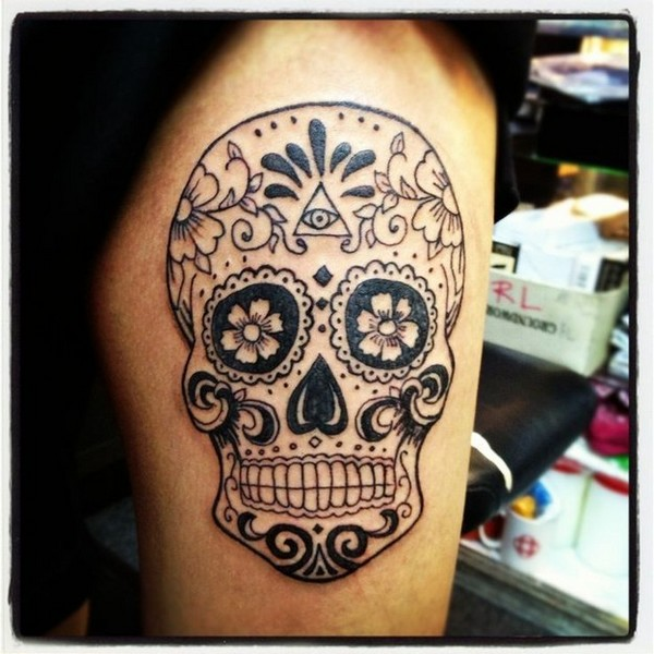 Amazing Sugar Skull Tattoos