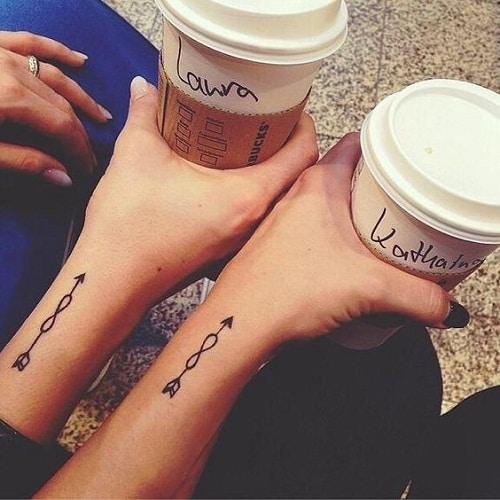 Arrow Infinity Best Friend Tattoo