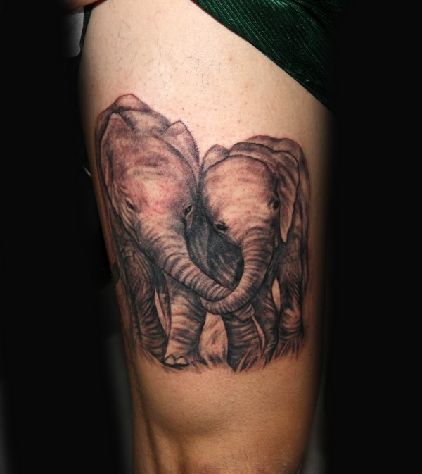 Back Elephant Tattoo