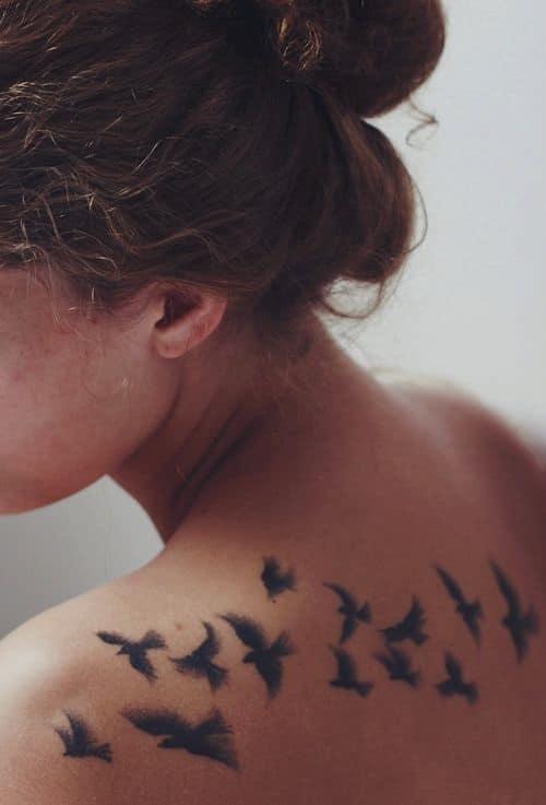 Beautiful Bird Wings Tattoos