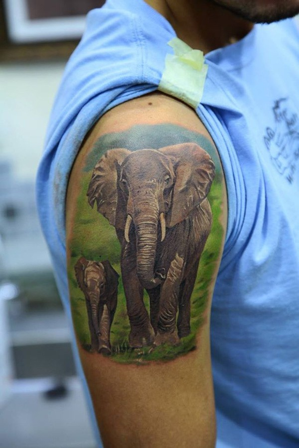 Cartoon Elephant Tattoos