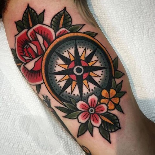 f2987fa4c 110 Best Compass Tattoo Designs, Ideas and Images - Piercings Models