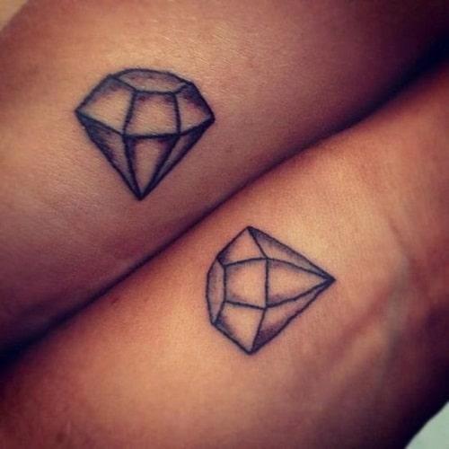 Diamond Best Friend Tattoos