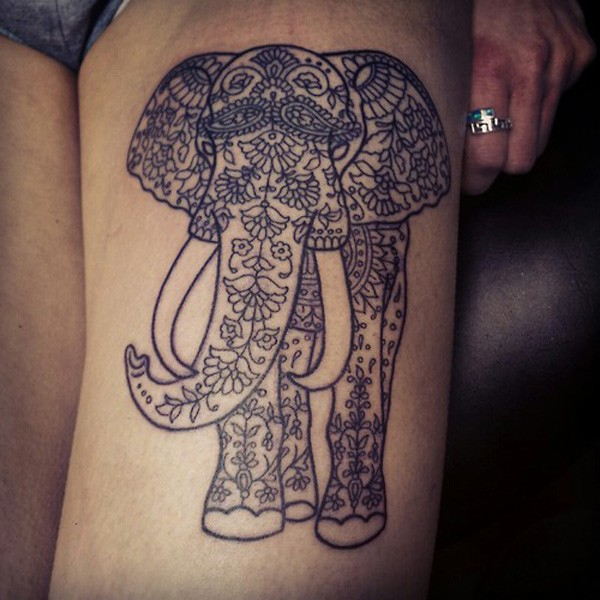 Elephant And Baby Tattoo