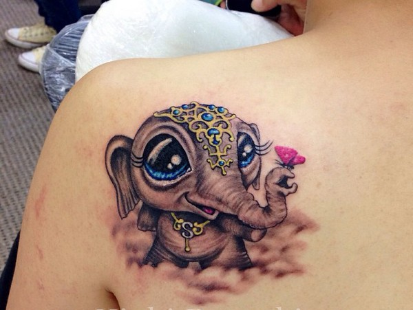 126cc7883 100 Mind-Blowing Elephant Tattoo Designs with Images - Piercings Models