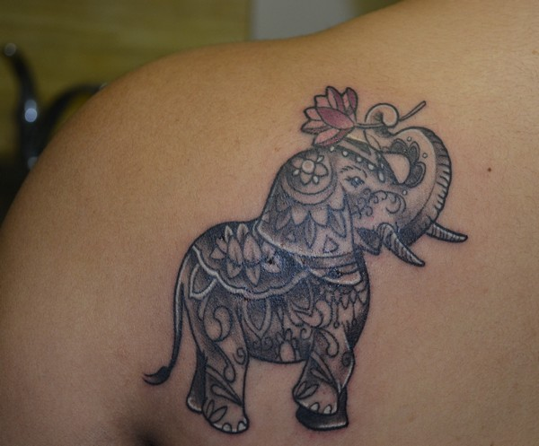 Elephant Tattoo For Girls