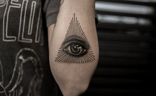 Eye of Providence Tattoo on Lower Arm