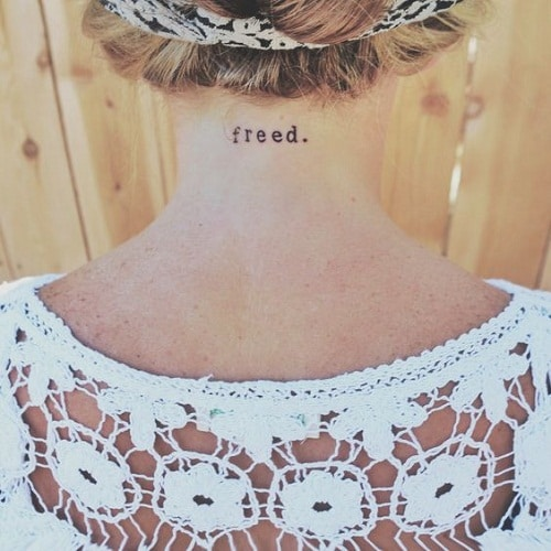 Freed Neck Tattoo
