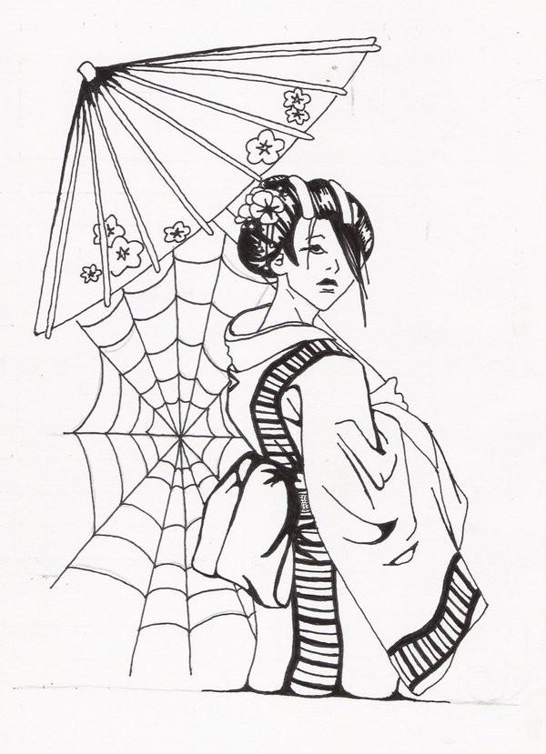 Geisha Samurai Tattoo