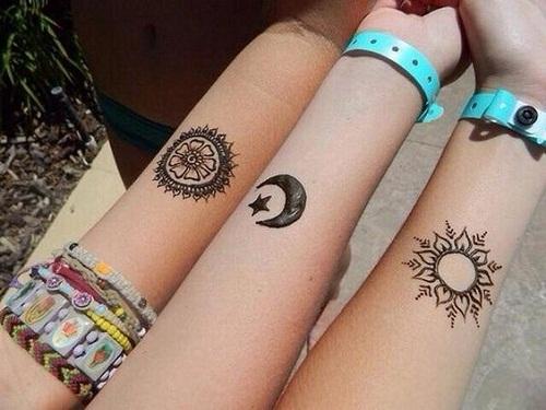 Mandala Best Friend Tattoos