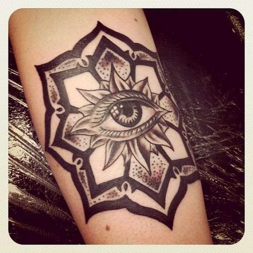 Mandala Eye Tattoo