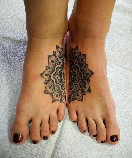 Mandala on Foot Best Friend Tattoos