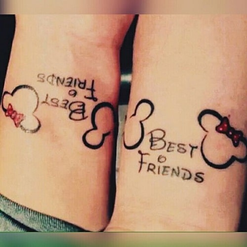 100 Unique Best Friend Tattoos with Images - Piercings Models